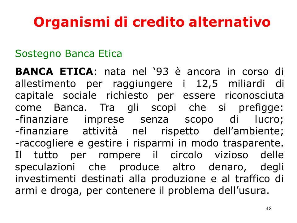 Organismi di credito alternativo