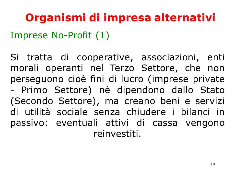 Organismi di impresa alternativi