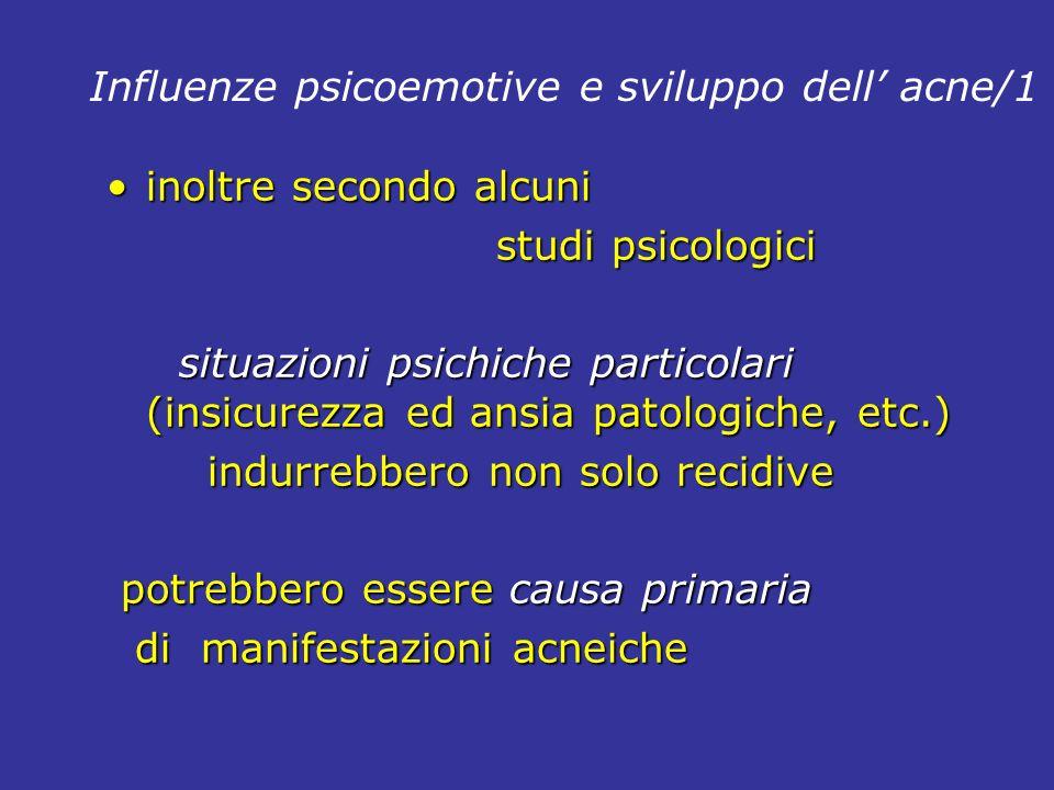 Influenze psicoemotive e sviluppo dell' acne/1
