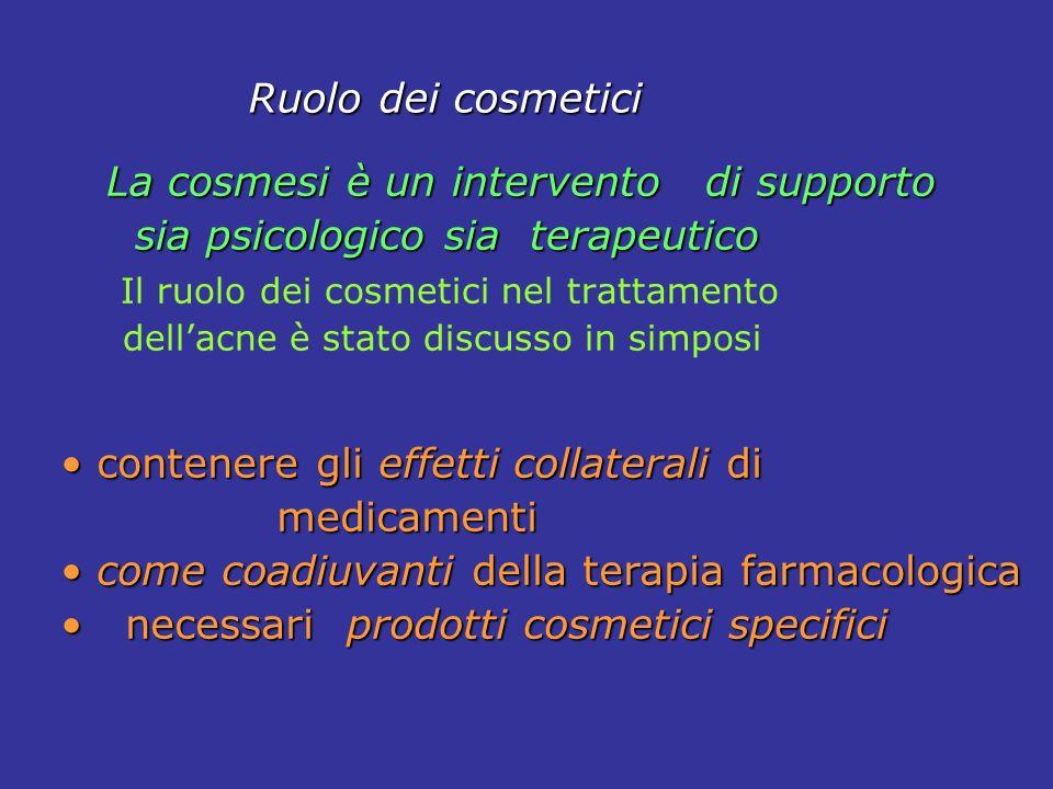 La cosmesi è un intervento di supporto sia psicologico sia terapeutico