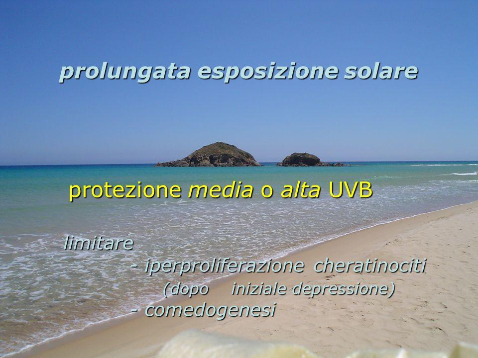 protezione media o alta UVB