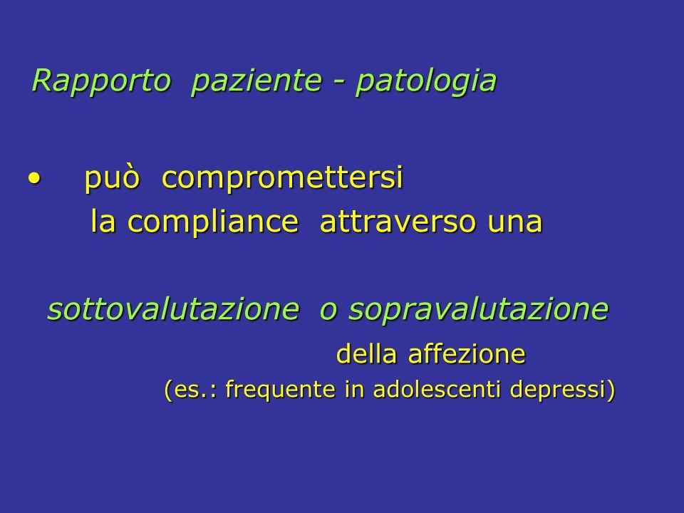 Rapporto paziente - patologia