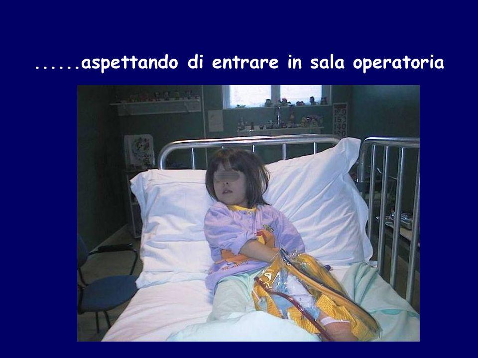 ......aspettando di entrare in sala operatoria