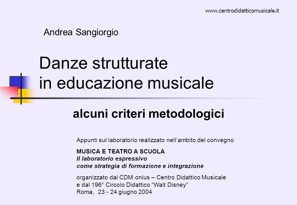 Danze strutturate in educazione musicale