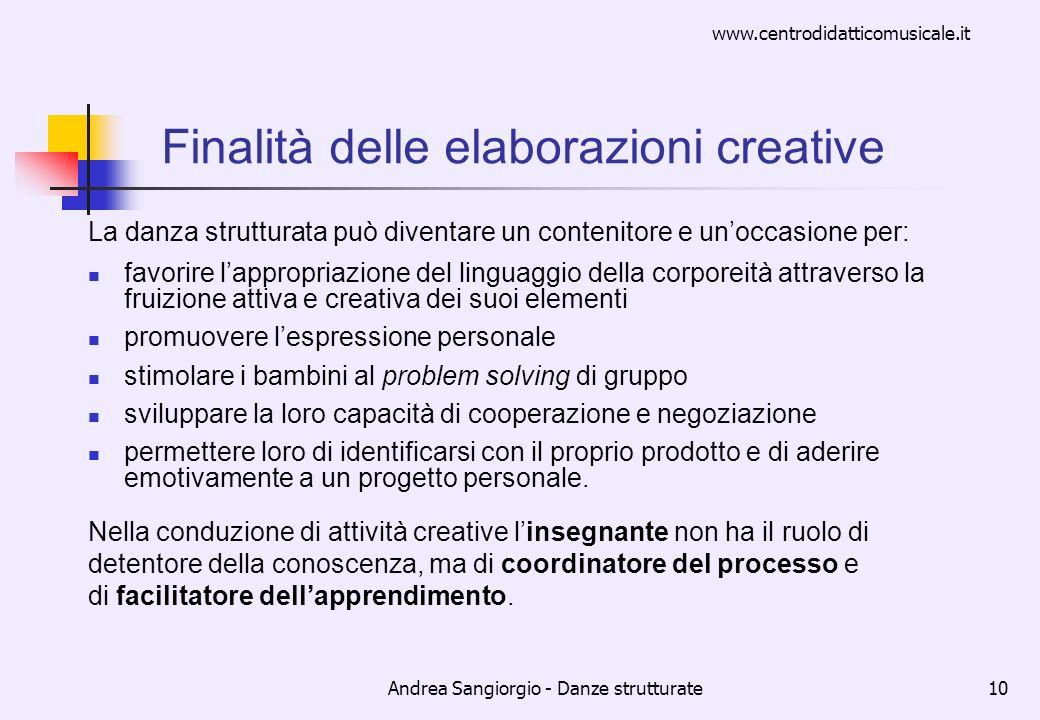Finalità delle elaborazioni creative