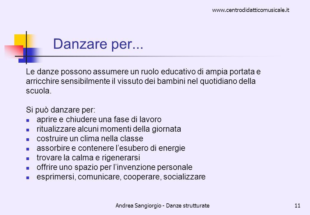 Andrea Sangiorgio - Danze strutturate