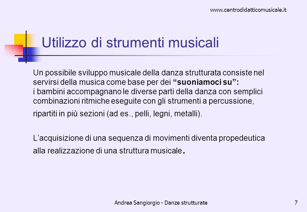 Utilizzo di strumenti musicali