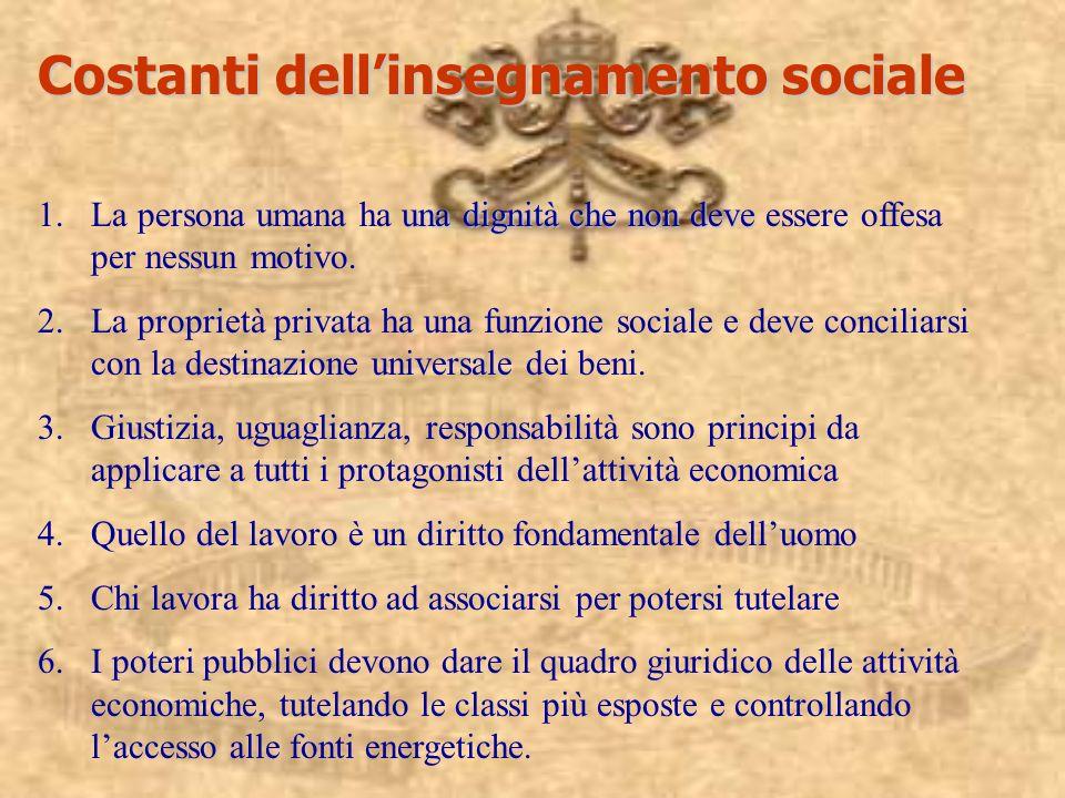 Costanti dell'insegnamento sociale
