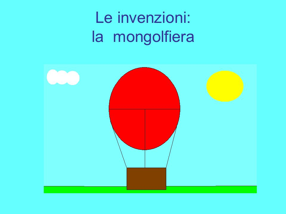 Le invenzioni: la mongolfiera