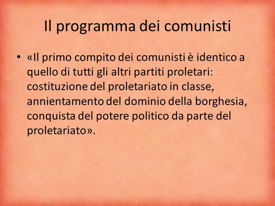 Il programma dei comunisti