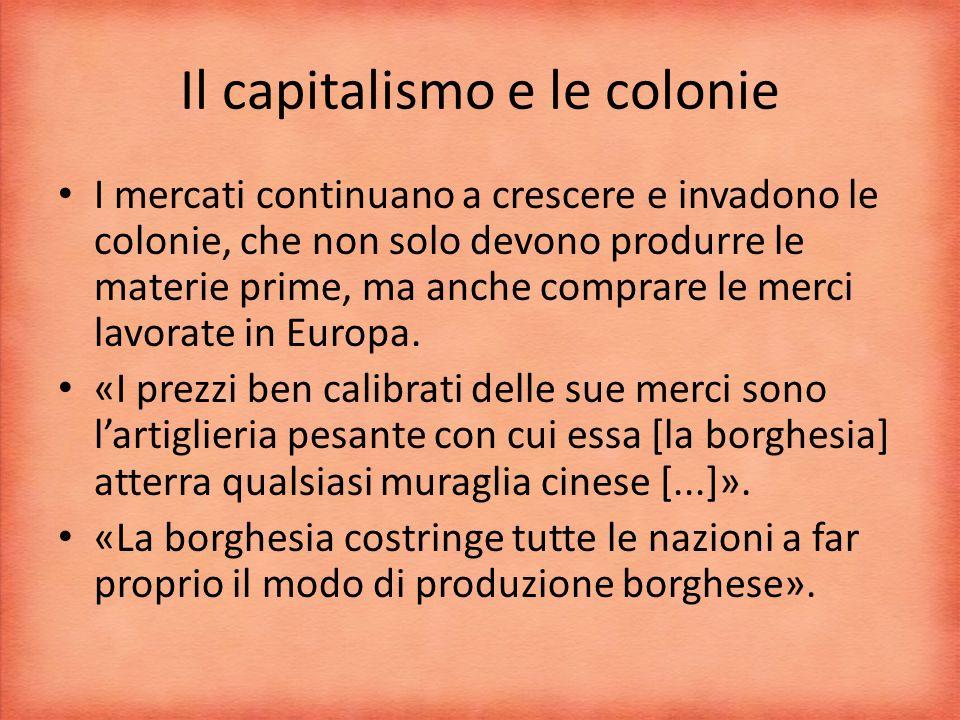 Il capitalismo e le colonie