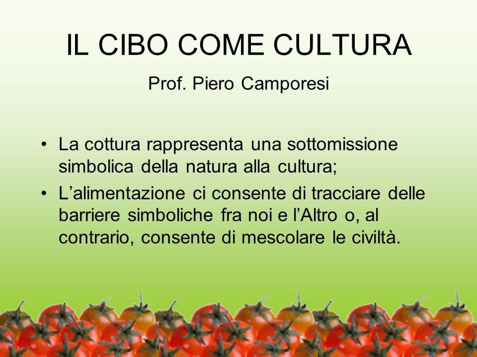 IL CIBO COME CULTURA Prof. Piero Camporesi