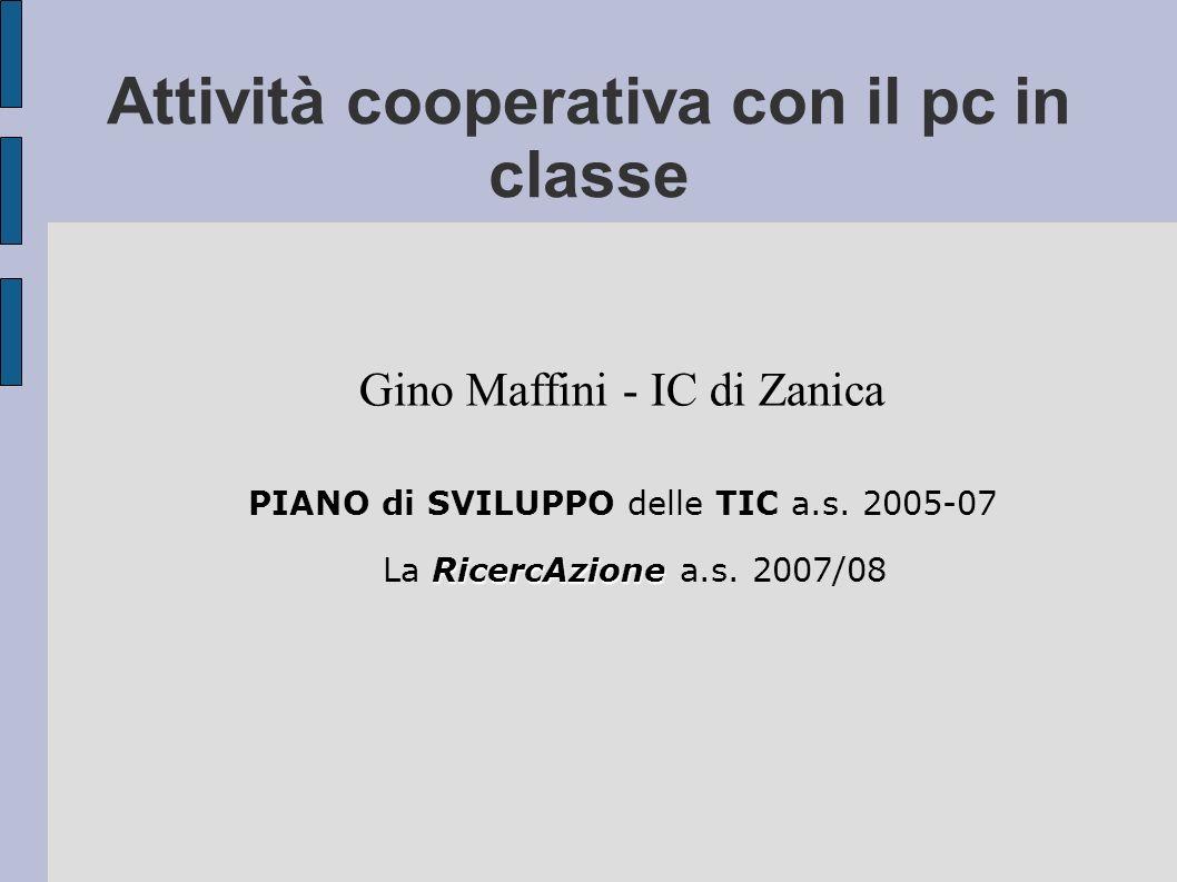 Attività cooperativa con il pc in classe