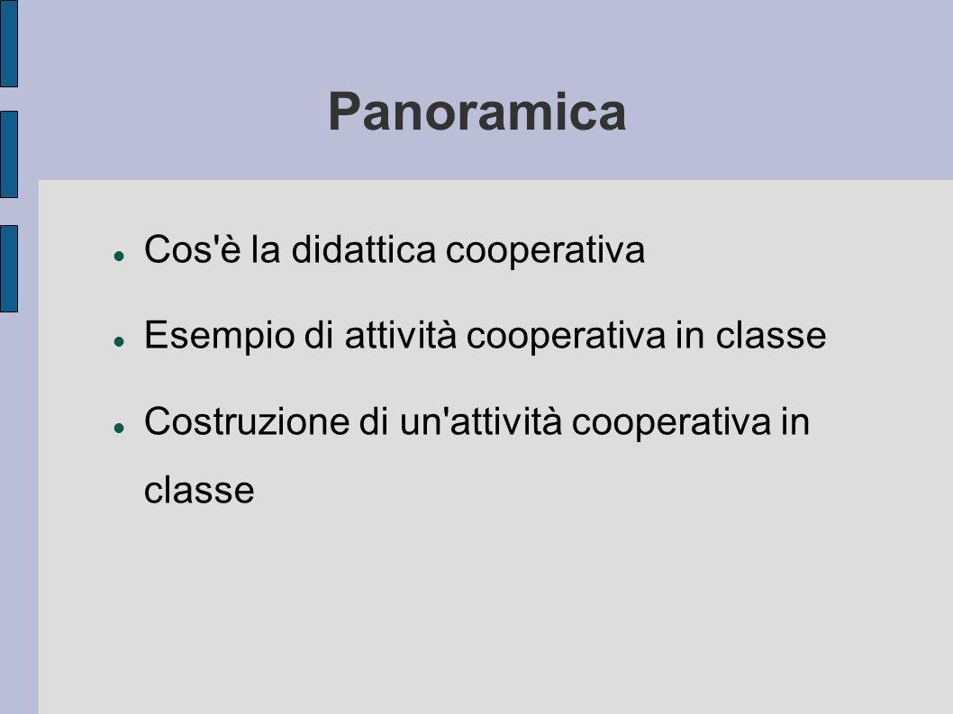 Panoramica Cos è la didattica cooperativa