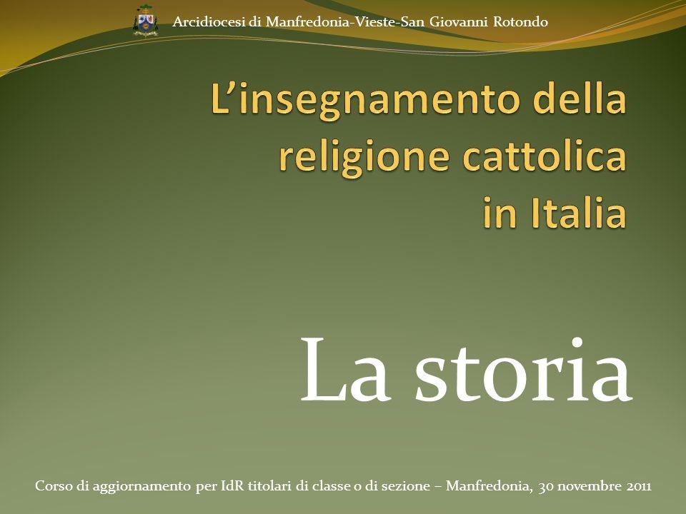 L'insegnamento della religione cattolica in Italia