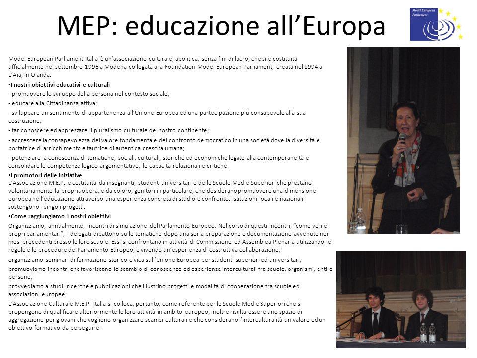 MEP: educazione all'Europa