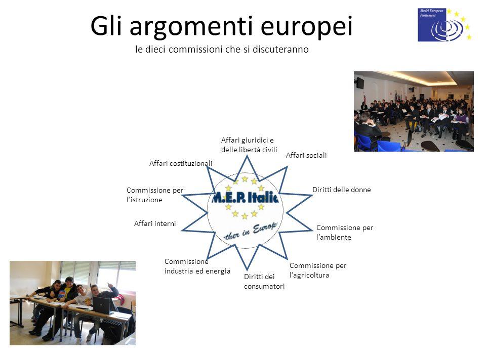 Gli argomenti europei le dieci commissioni che si discuteranno