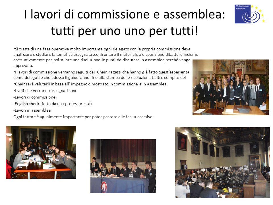 I lavori di commissione e assemblea: tutti per uno uno per tutti!