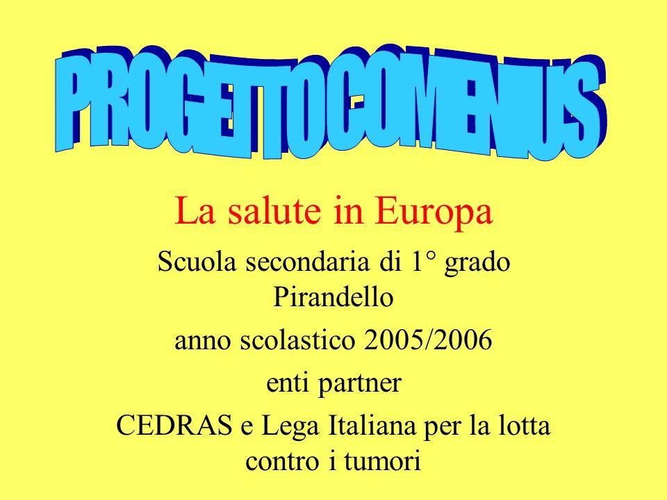 La salute in Europa PROGETTO COMENIUS