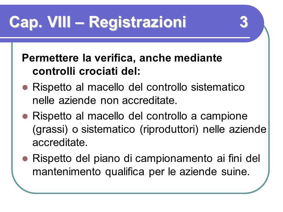 Cap. VIII – Registrazioni 3