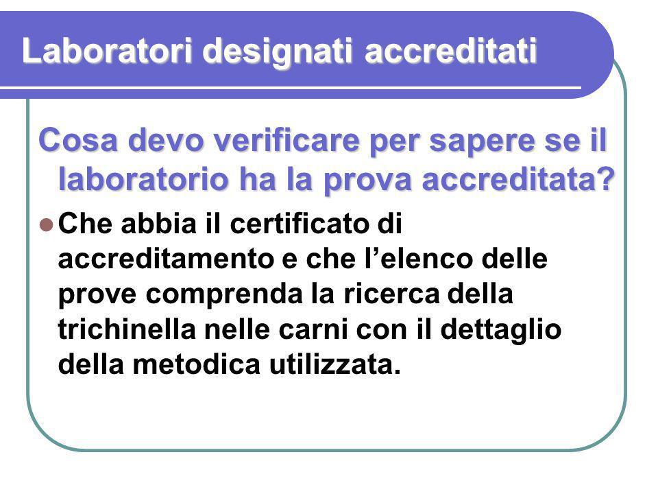 Laboratori designati accreditati