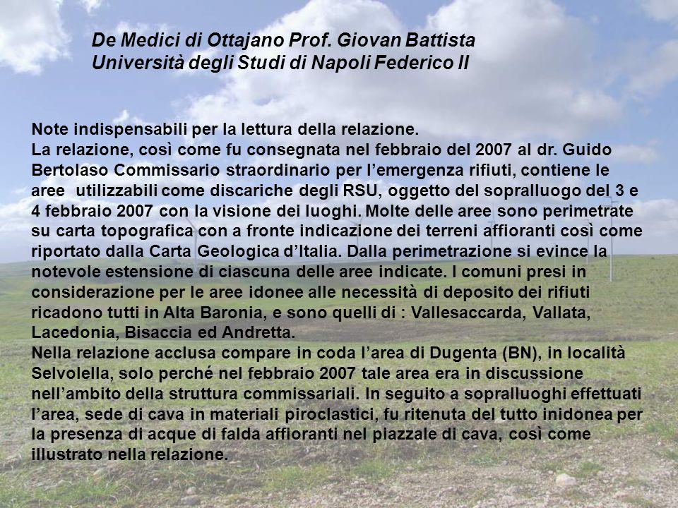 De Medici di Ottajano Prof. Giovan Battista