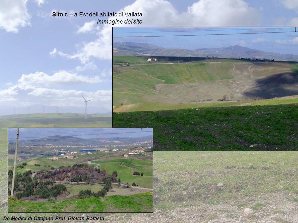 Sito c – a Est dell'abitato di Vallata Immagine del sito
