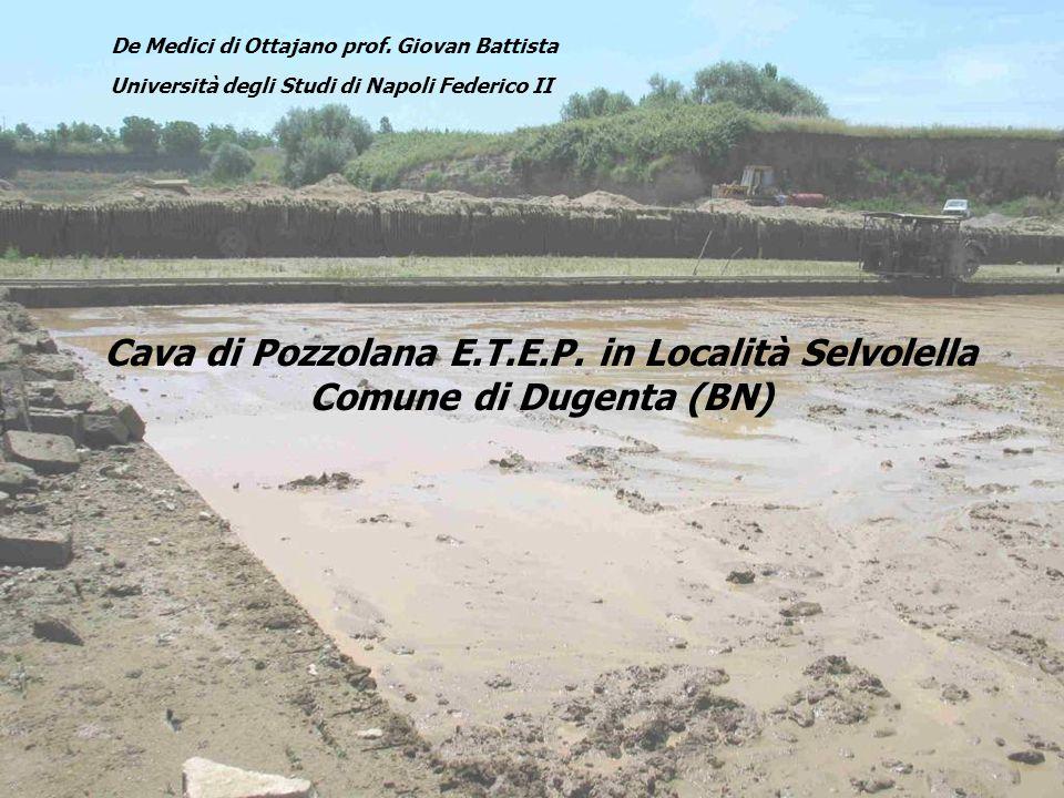 Cava di Pozzolana E.T.E.P. in Località Selvolella