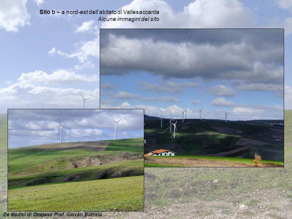 Sito b – a nord-est dell'abitato di Vallesaccarda Alcune immagini del sito