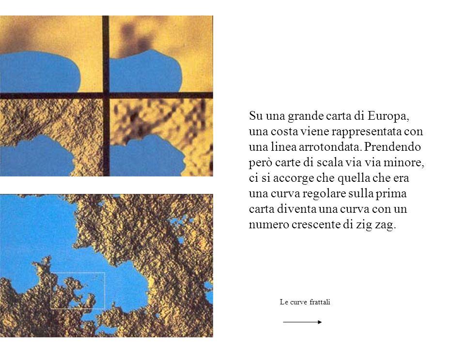 Su una grande carta di Europa, una costa viene rappresentata con una linea arrotondata. Prendendo però carte di scala via via minore, ci si accorge che quella che era una curva regolare sulla prima carta diventa una curva con un numero crescente di zig zag.