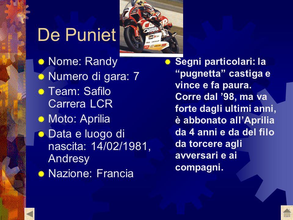 De Puniet Nome: Randy Numero di gara: 7 Team: Safilo Carrera LCR