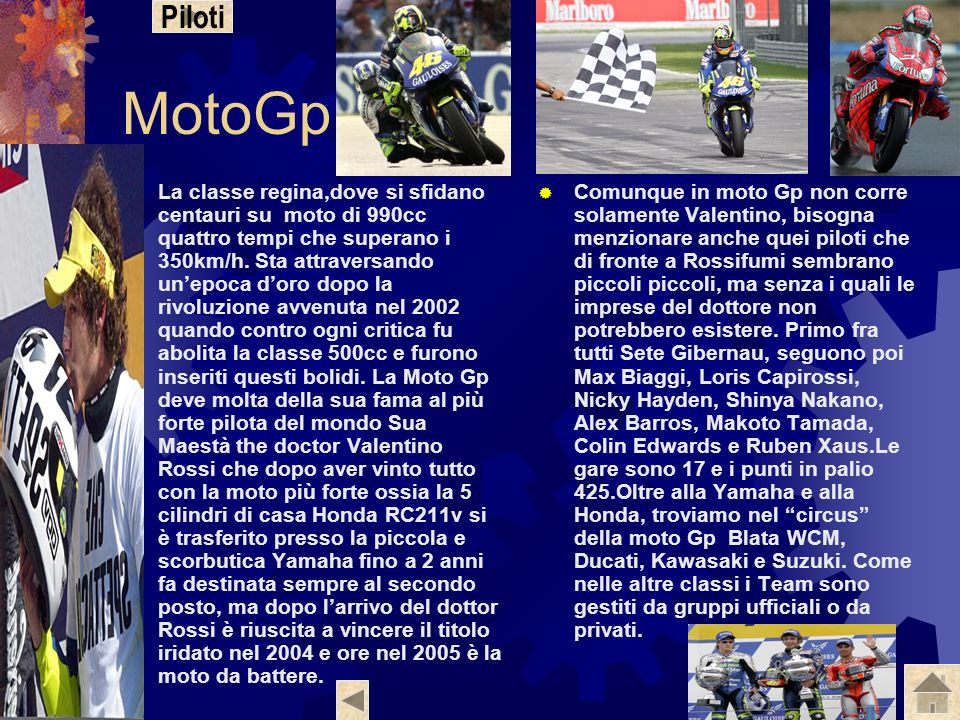 Piloti MotoGp.