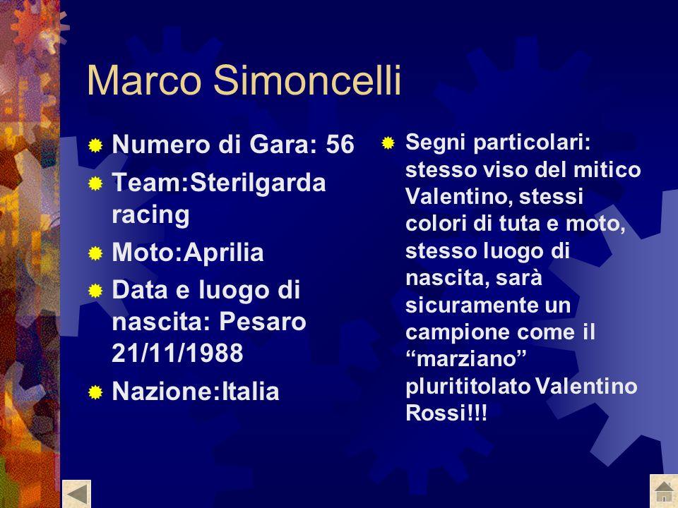 Marco Simoncelli Numero di Gara: 56 Team:Sterilgarda racing