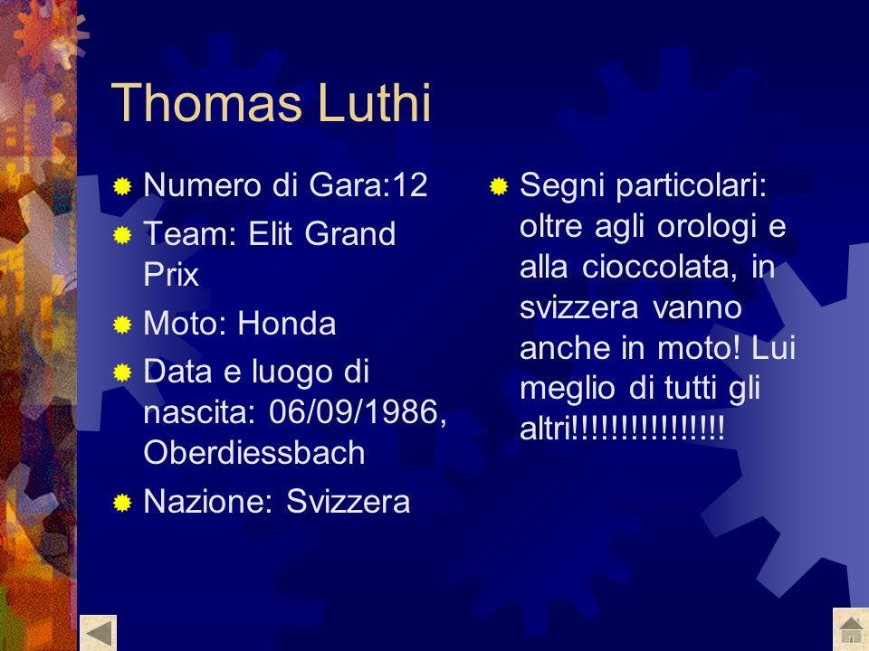 Thomas Luthi Numero di Gara:12 Team: Elit Grand Prix Moto: Honda