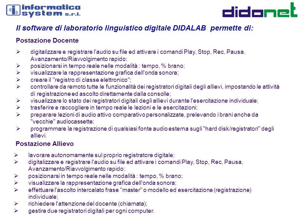 Il software di laboratorio linguistico digitale DIDALAB permette di: