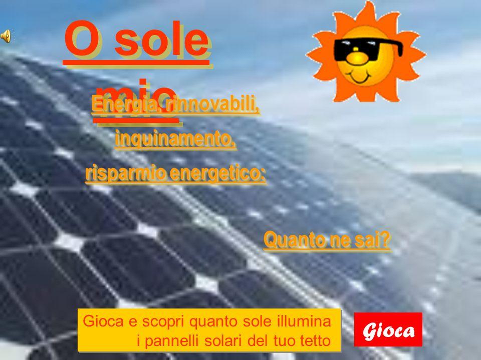 Energia, rinnovabili, inquinamento, risparmio energetico: