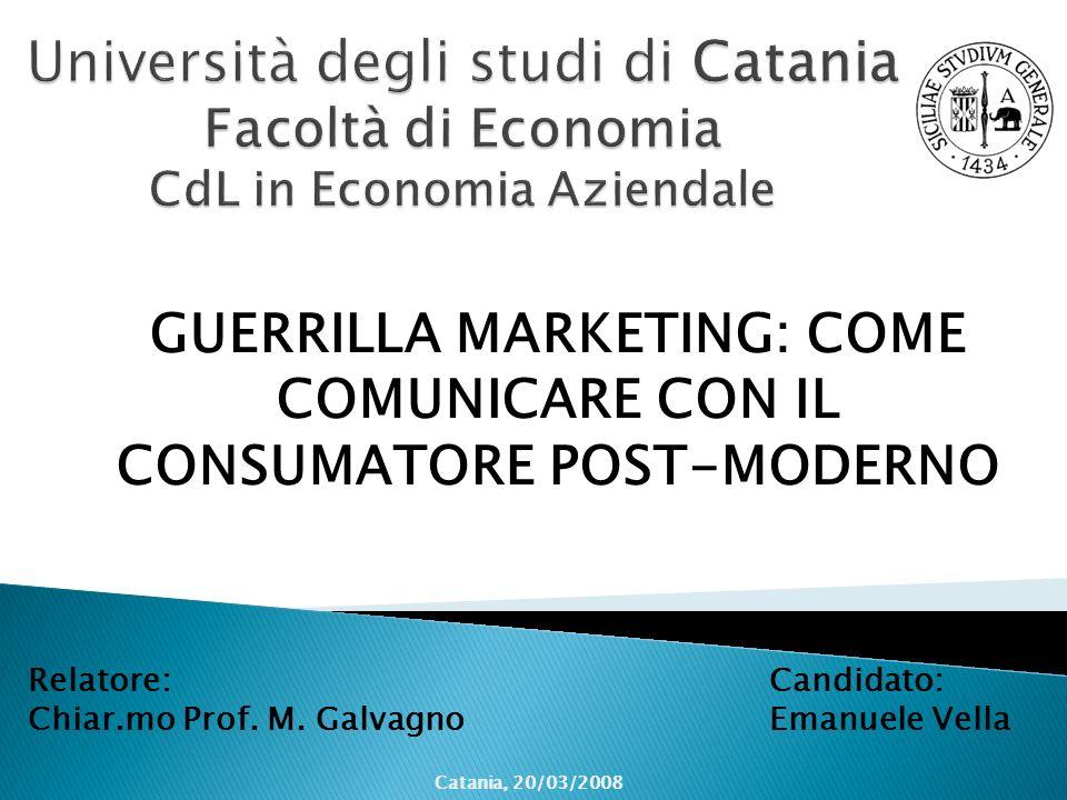 GUERRILLA MARKETING: COME COMUNICARE CON IL CONSUMATORE POST-MODERNO