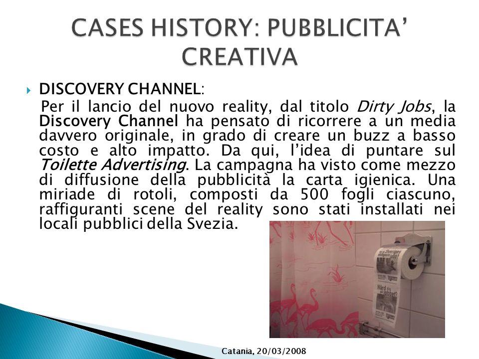 CASES HISTORY: PUBBLICITA' CREATIVA