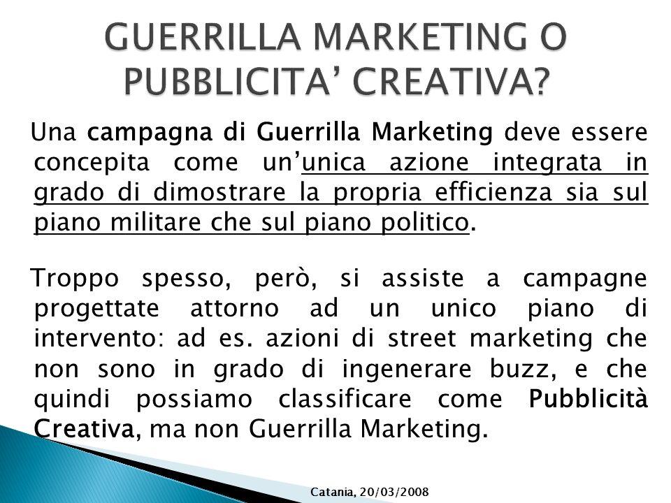 GUERRILLA MARKETING O PUBBLICITA' CREATIVA