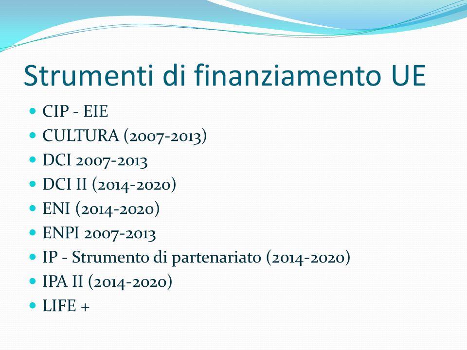 Strumenti di finanziamento UE