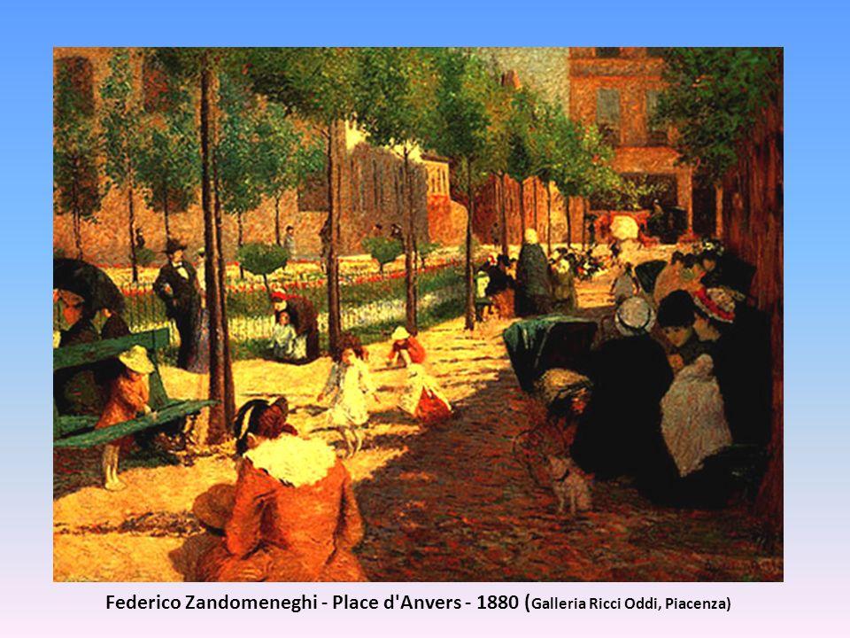 Federico Zandomeneghi - Place d Anvers - 1880 (Galleria Ricci Oddi, Piacenza)