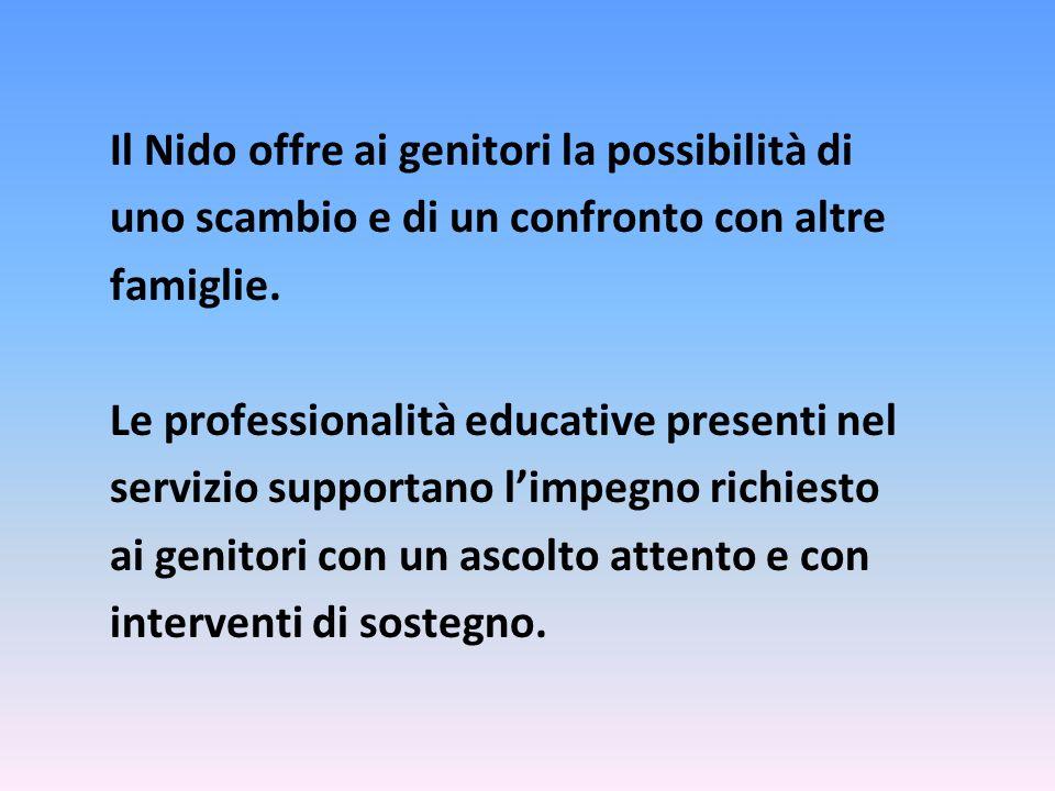 Il Nido offre ai genitori la possibilità di