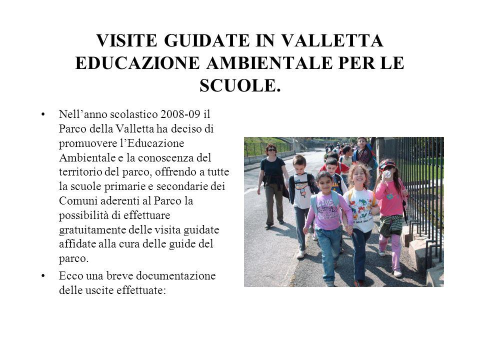 VISITE GUIDATE IN VALLETTA EDUCAZIONE AMBIENTALE PER LE SCUOLE.