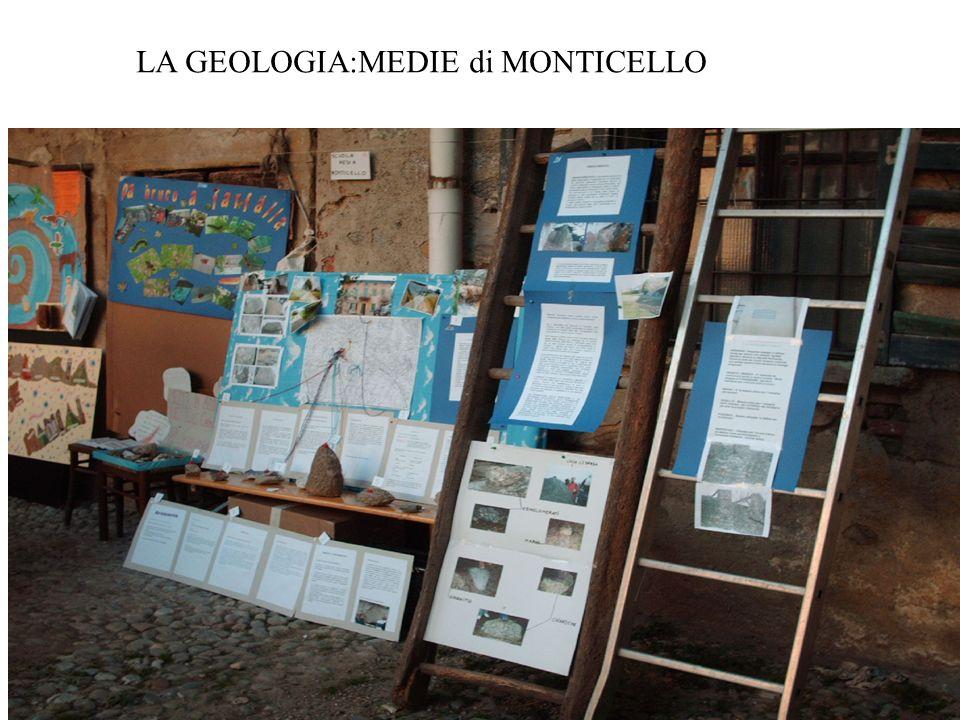 LA GEOLOGIA:MEDIE di MONTICELLO