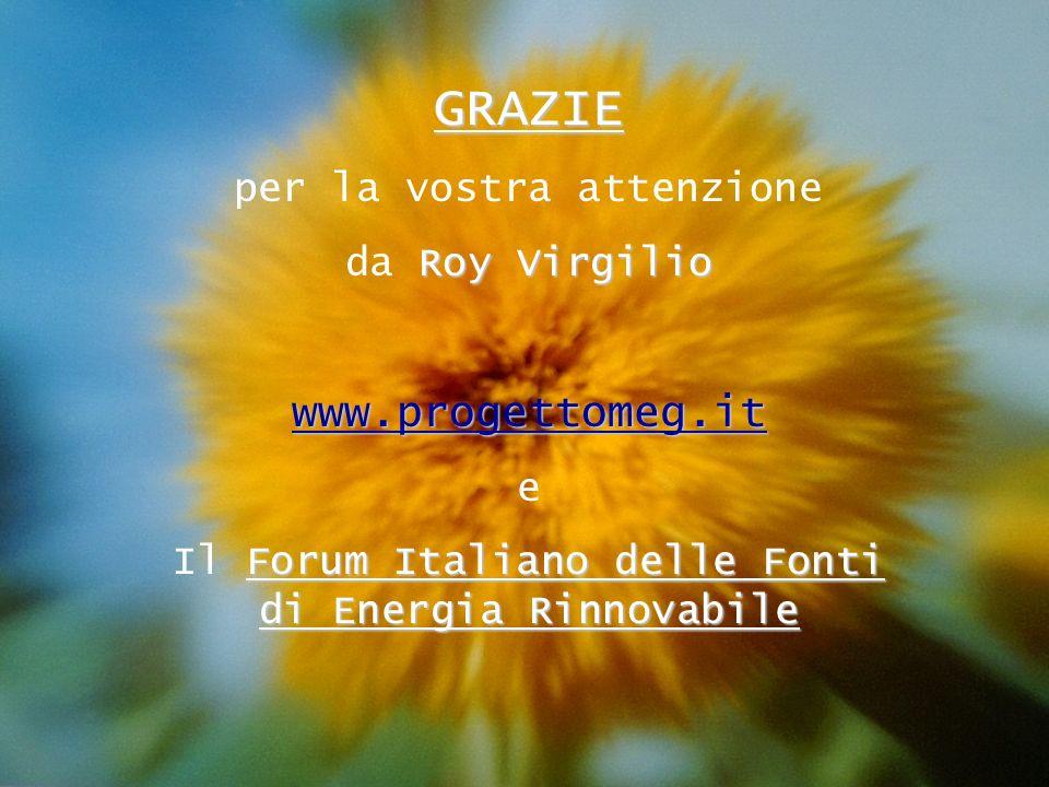 GRAZIE www.progettomeg.it per la vostra attenzione da Roy Virgilio e