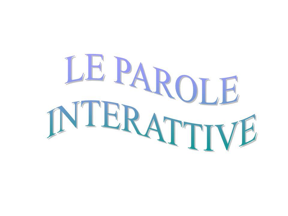 LE PAROLE INTERATTIVE