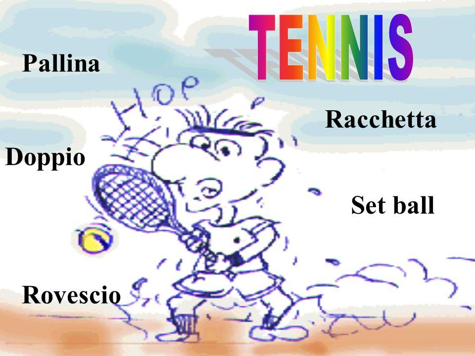 TENNIS Pallina Racchetta Doppio Set ball Rovescio