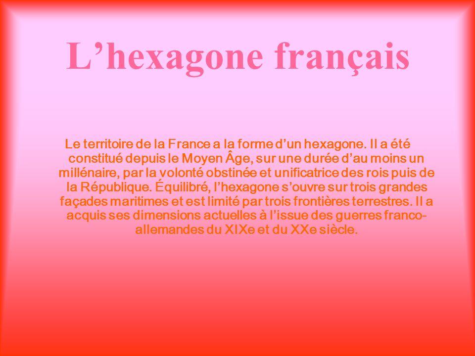 L'hexagone français