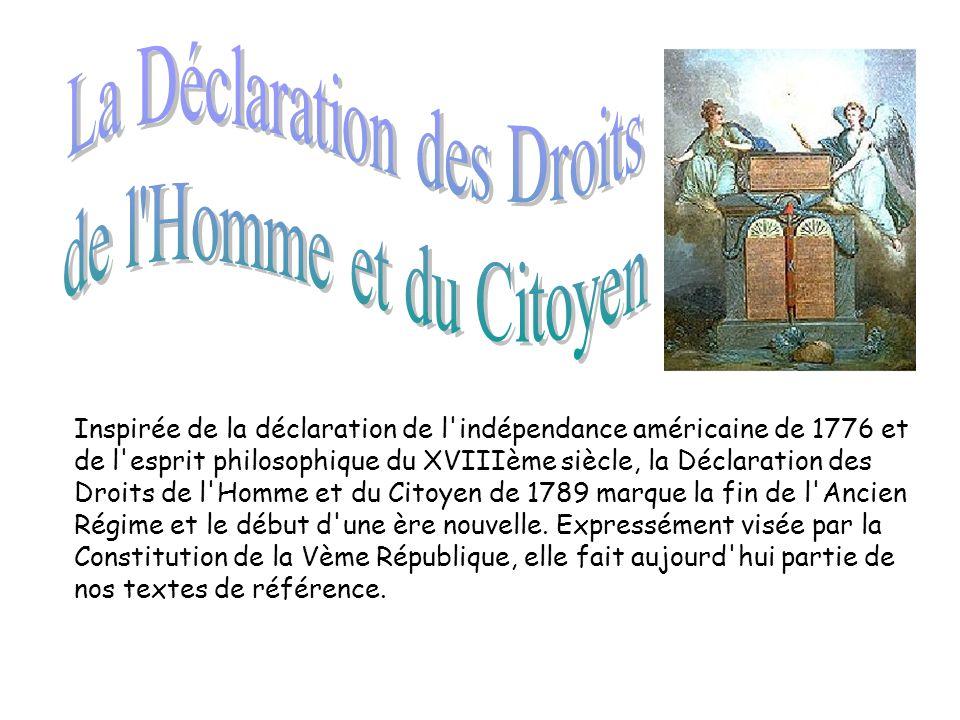 La Déclaration des Droits
