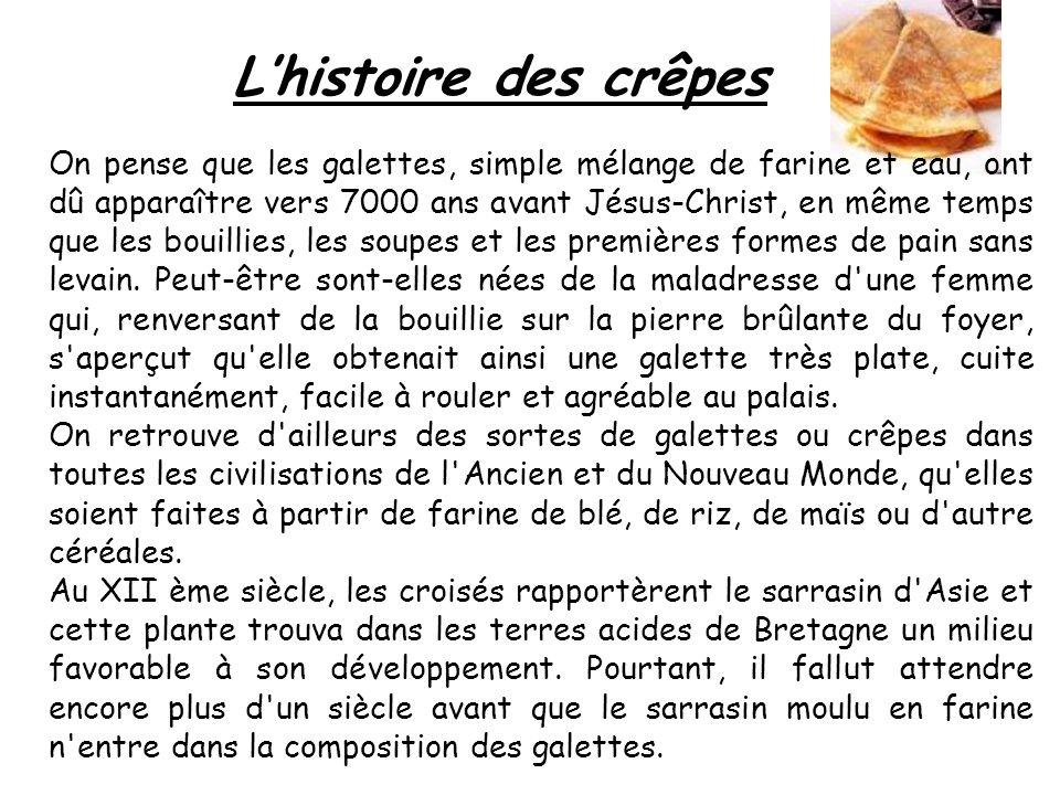 L'histoire des crêpes